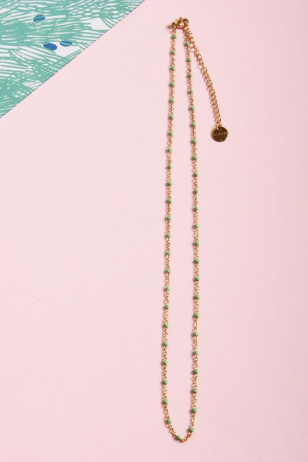 Ginette Necklace Green