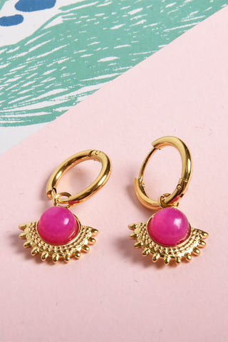 Rozette earrings Fushia