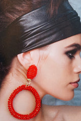 WEN Pip Earrings Red