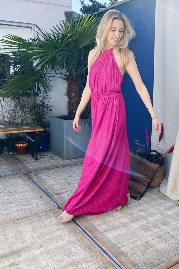 Alisier 1-F11495 Dress Fuchsia