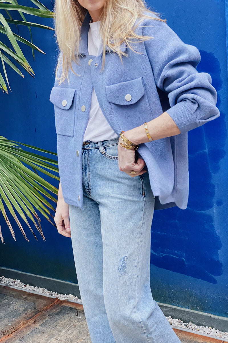 Camelia Swt1409 Veste Denim Blue