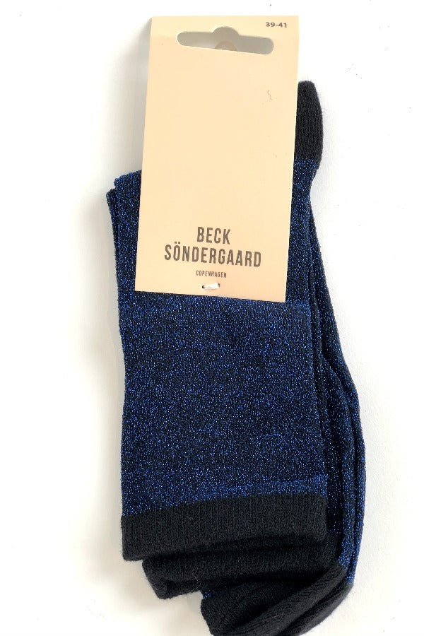 Dina Solid 0000848011 Socks Blue Nights