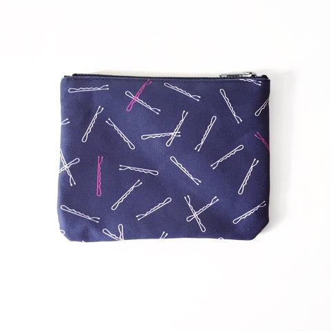 Elizabeth-Attwood-Hairpins-Pocket-Pouch-Navy-Blue