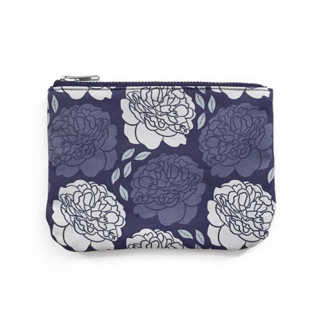 Pocket Pouch | Climbing Peonies | Blue