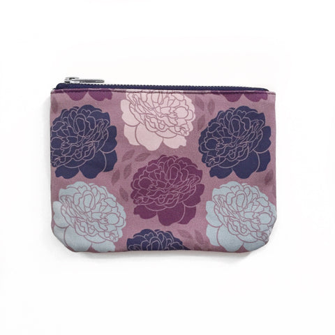 Pocket Pouch | Climbing Peonies | Pink