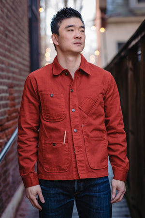 Tellason Coverall Jacket - International Orange - Franklin & Poe