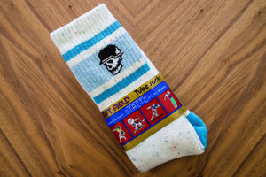 Left Field Skull Stripe Super Plush Tube Socks - JawBreaker