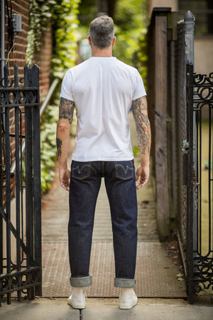 Iron Heart IH-634S Indigo 21 oz. Selvedge Denim - Straight Cut - Franklin & Poe