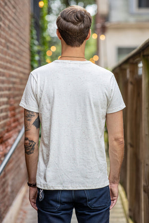 Left Field NYC Confetti Ringer Nub Pocket Tee