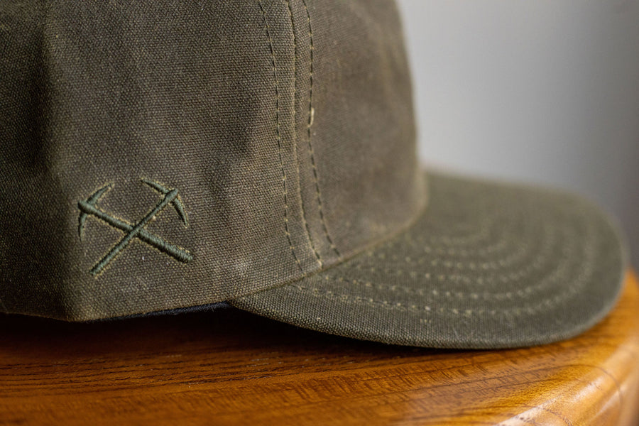 3sixteen Waxed Canvas Baseball Cap - Olive