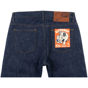 Naked & Famous Denim Elephant 9 Wild Blue Selvedge - Weird Guy