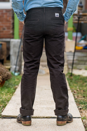 Left Field NYC Work Uniform Chino - Chocolate Duck