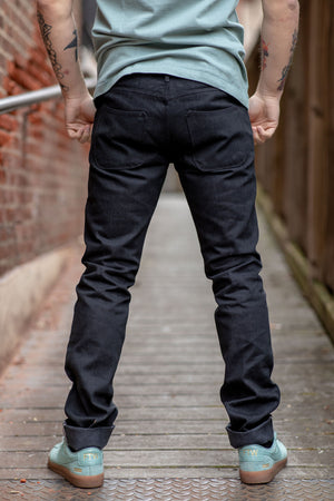 Freenote Cloth Rios - 14.25 oz Black Grey