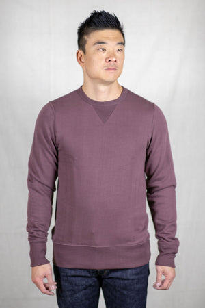 Merz b. Schwanen 346 Crew Neck Sweatshirt - Red Oak - Franklin & Poe