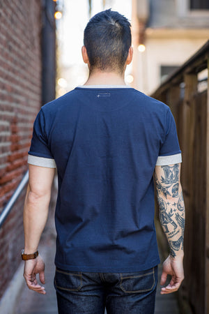 Knickerbocker The Color Block T-Shirt - Heather/Navy