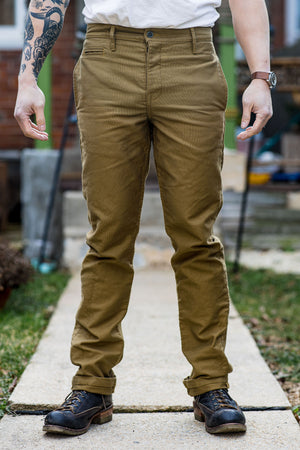 Left Field Coal Miner Chino - Dark Khaki N1 Deck Cord