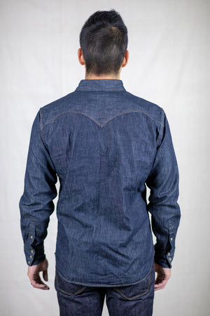 Stevenson Overall Co. Cody Shirt - Indigo - Franklin & Poe