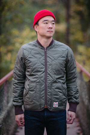 Eat Dust Frostbite Nylon Jacket - Khaki - Franklin & Poe
