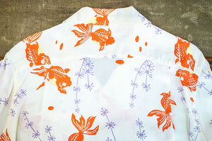 Sun Surf Gold Fish With Luck Hawaiian Shirt - Off White