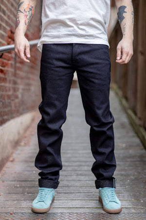 Freenote Cloth Portola Taper - 14.25 oz. Raw Fleck Denim