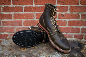 White's Boots x Franklin & Poe MP Service Boot (F&P Serial No. 19-003) - Olive Waxed Flesh
