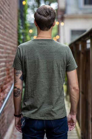 Left Field Vietnam Heather Pocket Tee