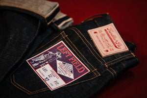 Left Field NYC x Franklin & Poe Atlas - 15.5 oz. Nihon Menpu Organic Indigo Selvedge Denim - Franklin & Poe