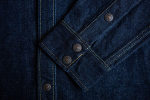 Iron Heart IHSH-177 18oz Selvedge Denim CPO - Indigo