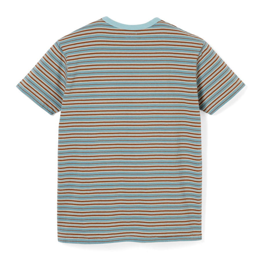Stevenson Overall Classic Bordered Pocket T-Shirt - Light Blue