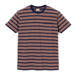 Stevenson Overall Classic Bordered Pocket T-Shirt - Navy