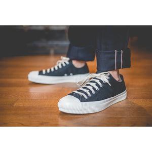 Iron Heart IHSN-01 Low Top Sneakers - 21 oz. Superblack Denim - Franklin & Poe