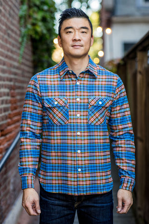 Freenote Cloth Benson - Blue Plaid