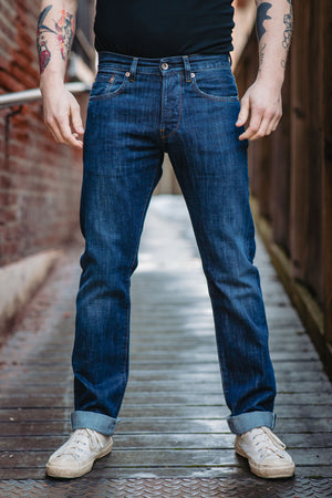 C.O.F. Studio M2 - 13 oz. Indigo Selvedge Authentic Aged - Franklin & Poe