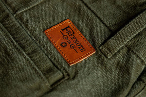 Freenote Cloth Workers Chino Slim Fit - 14oz Slub Army Green