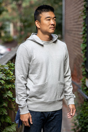 Knickerbocker Gym Hoody - Heather Grey