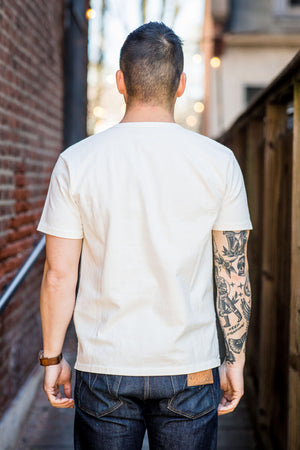 Freenote Cloth 13oz Pocket T-Shirt - White