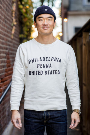 Philadelphia Fleece Standard Crew by Knickerbocker - Milk
