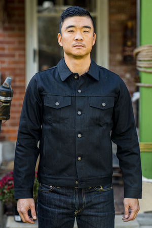 Tellason Jean Jacket - Black Japanese Selvedge Denim