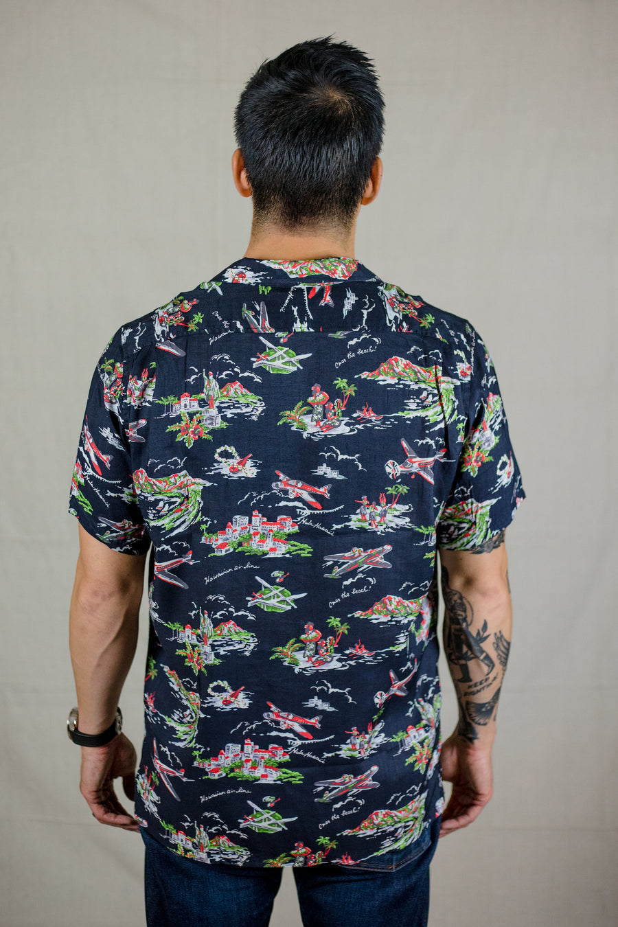 Knickerbocker MFG Central Shirt - Navy - Franklin & Poe