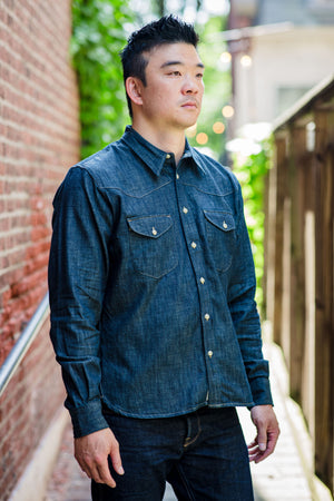 Indigofera Manolito Shirt - 6.5 oz. Sanyati Denim