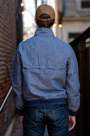 C.O.F. Studio Harrington Jacket - Indigo Selvedge Chambray