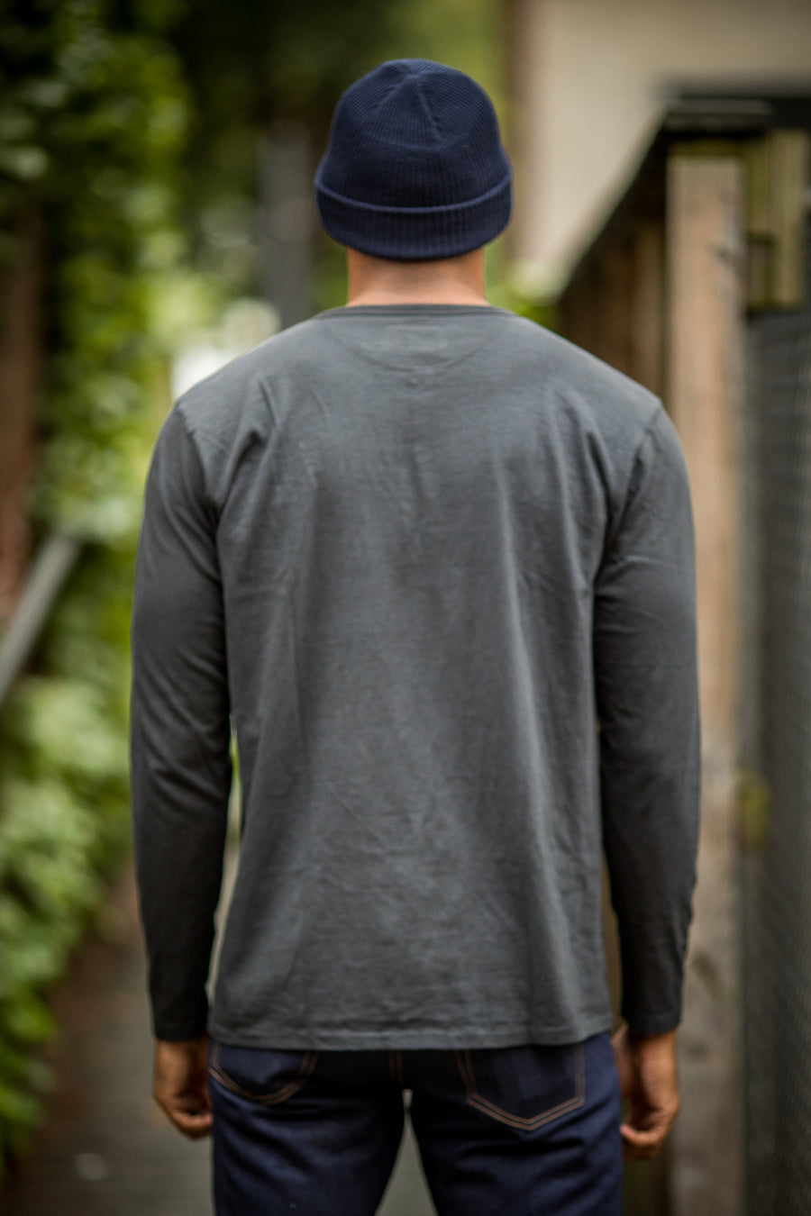 Knickerbocker MFG Co. L/S Henley Tube Tee - Sunfade Black - Franklin & Poe