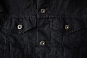 3sixteen Type 3 Denim Jacket - Black Waxed Canvas