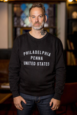 Philadelphia Fleece Standard Crew by Knickerbocker - Coal