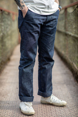 Indigofera Quinn Trouser - 8 oz. Indigo Military Chambray