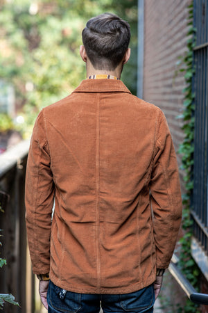 C.O.F. Studio Brewer Jacket 8 W Corduroy - Terracotta