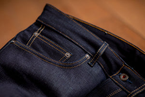 Railcar Fine Goods Spikes X034 - 16.5 oz. Proprietary Indigo Denim - Franklin & Poe