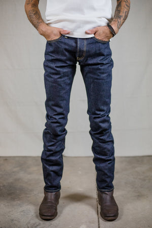 Iron Heart IH-777S-142 Indigo New 14 oz. Selvedge Denim - Super Slim Tapered Cut - Franklin & Poe