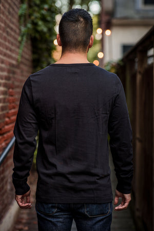 Merz b. Schwanen 206 Henley Long Sleeve - Deep Black