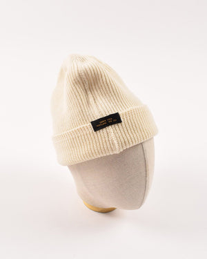 Dehen 1920  Wool Knit Watch Cap - Natural